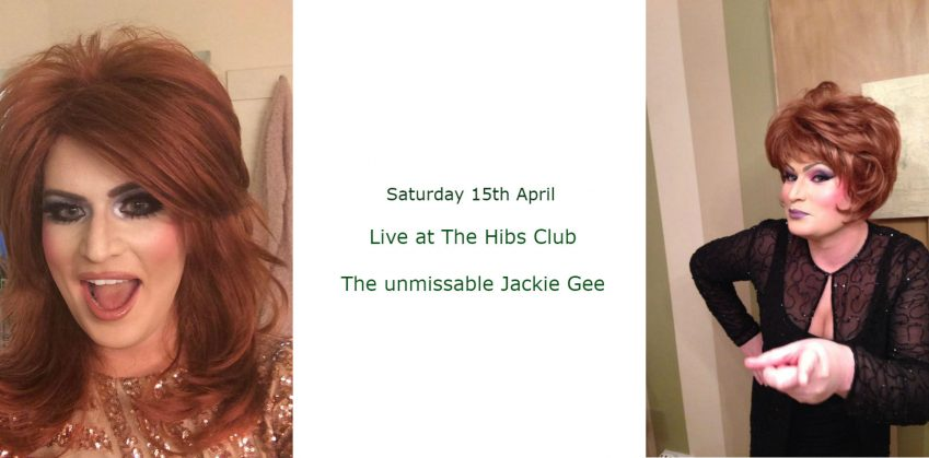 Jackie Gee live at The Hibs Club