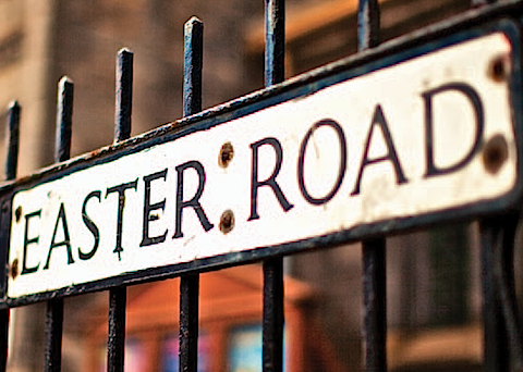 Easter Road sign