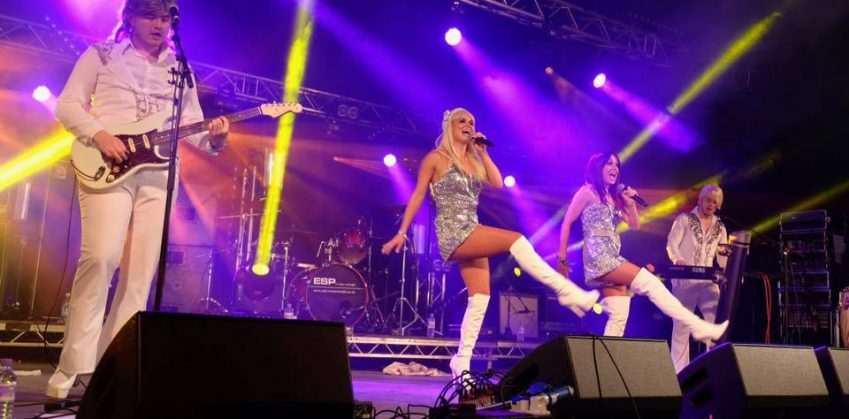 ABBA tribute act live at The Hibs Club