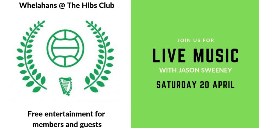 Jason Sweeney live at Whelahans, The Hibs Club